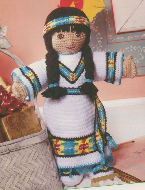 Crochet Patterns Native American : Princess Noel Native American Doll Crochet PATTERN Crochet Doll ...