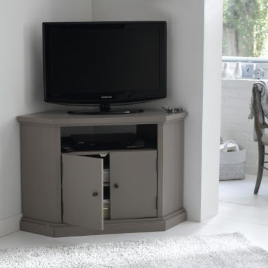 Tvs and shopping on pinterest - Meuble tv d angle la redoute ...