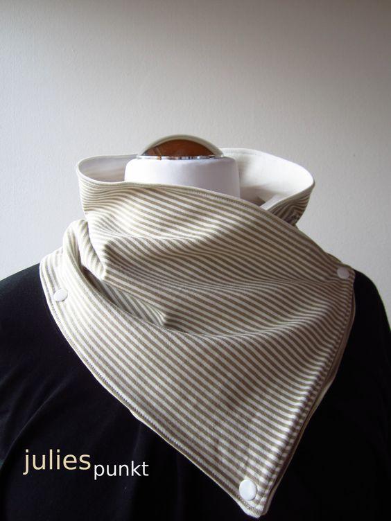 Eine Freundin von mir hat einen super Schal von ihrer Schwester zu Weihnachten bekommen. Seit ich den zum ersten Mal gesehen habe, spuckt er mir im Kopf herum. Also habe ich mit Jersey-Resten von m…
