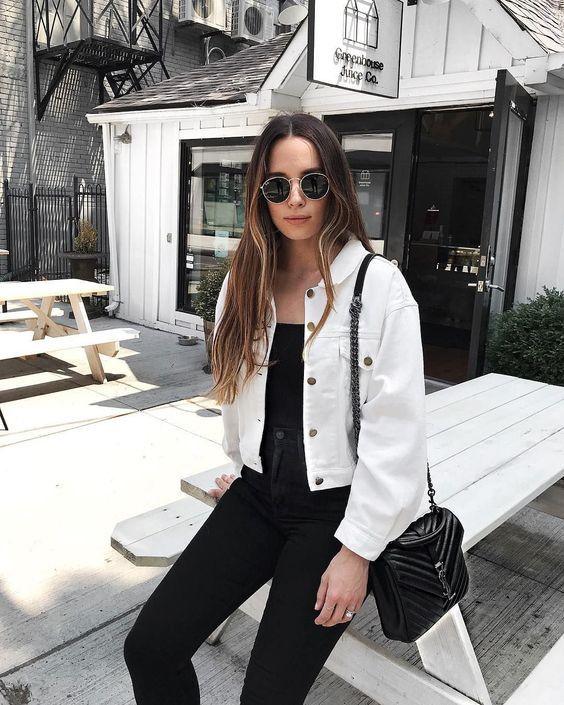 16 Outfits coquetísimos con jeans negros para otoño – invierno