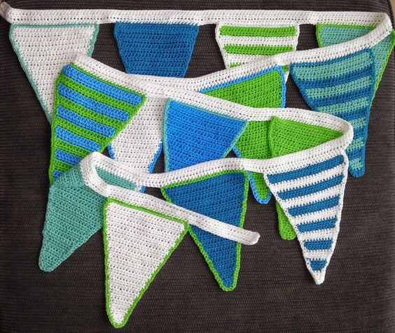 Janet crochet, blue, green,: