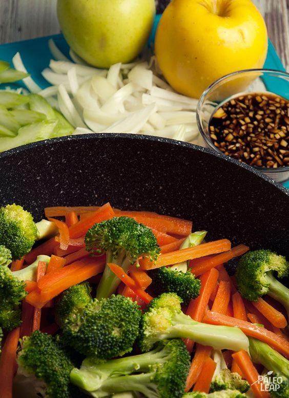 Mix something a little different into your stir-fry with this quick and easy recipe. Adds apples for a little sweetness.