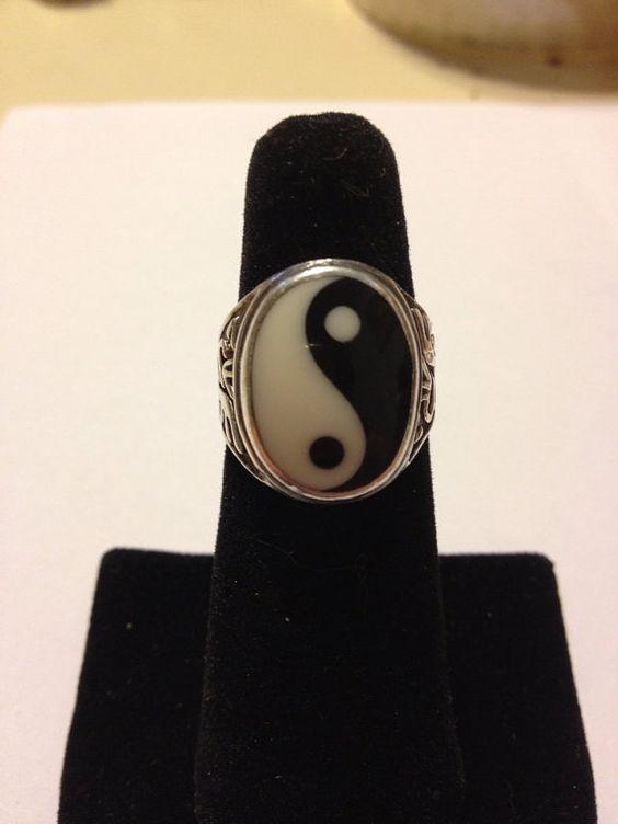Etsy Yin Yang Rings