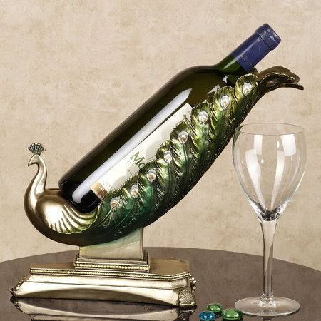 Elegant Plumage Wine Holder: