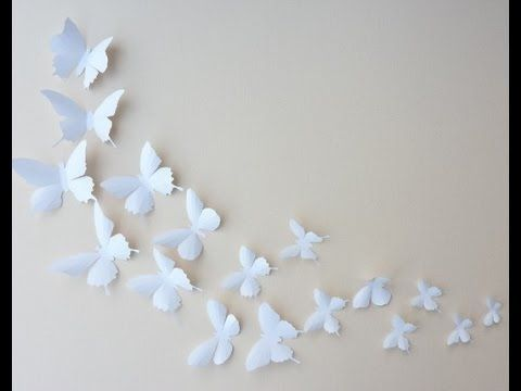 Manualidades youtube and watches on pinterest - Como hacer mariposas de papel ...
