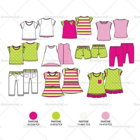 Free Fashion Flat Templates Trim Pack Courses Free Tutorials On Adobe Illustrator Tech Packs Freelancing For Fashion Designers Baby Fashion Wash Baby Clothes Baby Clothes Shops