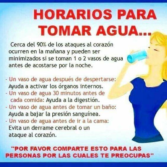 Horario para tomar agua
