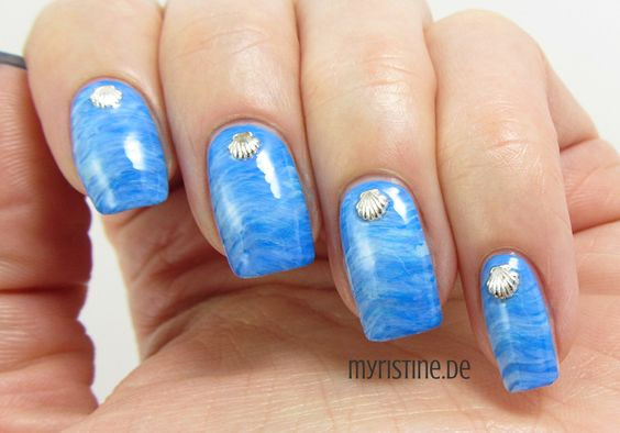 Blue Ocean Nails mit New Wave (P2, Pool Side Party)