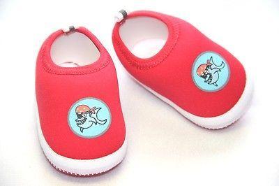 Red Polyester Shark Print Slip-On Baby Boy Aqua Shoe - 0-3 months
