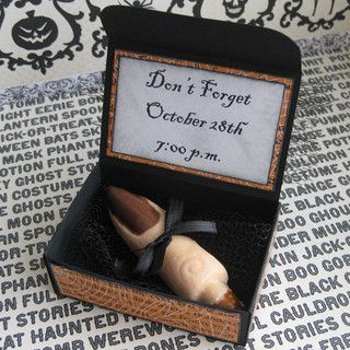 Gruesome! This DIY Halloween invitation is sure to get a great reaction!