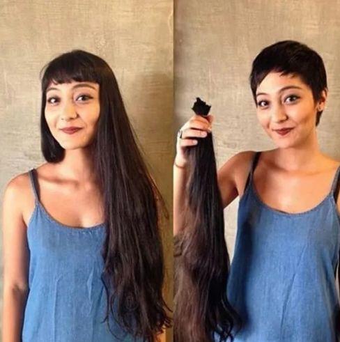 Женщина, которая 30 лет носила длинные волосы, а мастер обрезал их почти в  ноль и превратил её в … в 2020 г | Укладка длинных волос, Короткие стрижки,  Укладка коротких волос