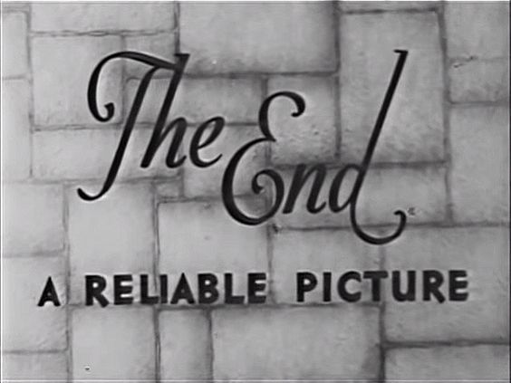 """Title card: """"The End"""" 