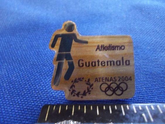 2004 Athens Olympic NOC Pin Team Guatemala Athletics Dated
