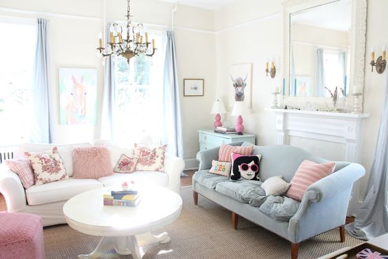 A Perfectly Pastel Country House — House Tour