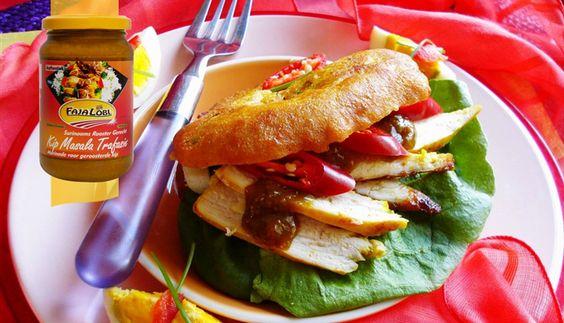 Surinaams eten – Bara gevuld met kip masala