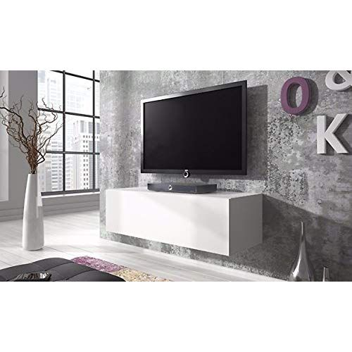 Tv Schrank Simple 100 Cm Weiss Matt Glanzend Weisse Wohnwand