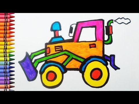 Cara Menggambar Dan Mewarnai Excavator Untuk Anak Youtube Gambar Belajar Menggambar Anak