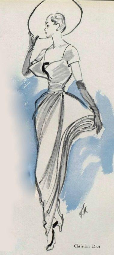 1948-49 - Christian Dior dress ligne Ailée