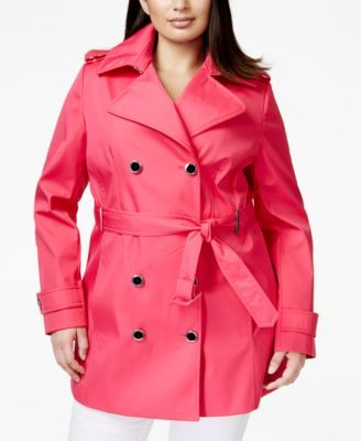CALVIN KLEIN Calvin Klein Plus Size Double-Breasted Trench Coat. #calvinklein #cloth # coats