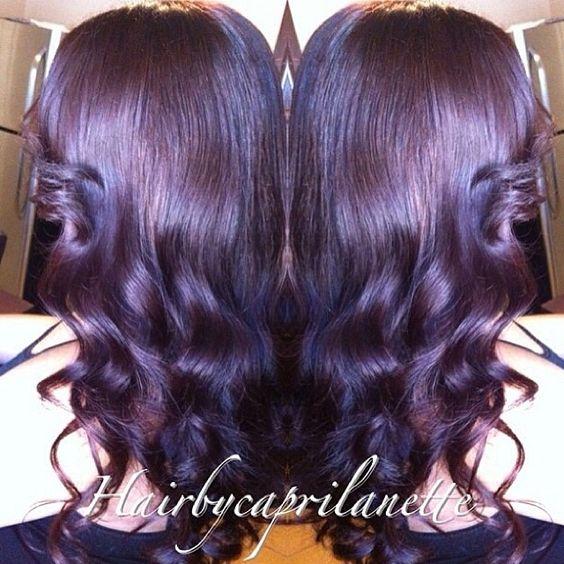 Plum Hair Color 3025  Dark Brown Hairs