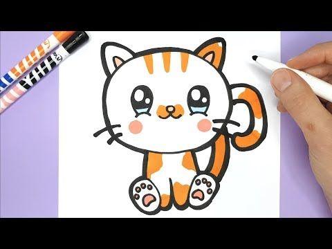 Eine Kawaii Und Niedliche Katze Zeichnen Und Malen Kawaii Bilder Youtube Katze Zeichnen Niedliche Katze Youtube Malen