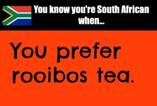I may not be South African, but I love this. I do love South Africa and I do love Rooibos. ;)