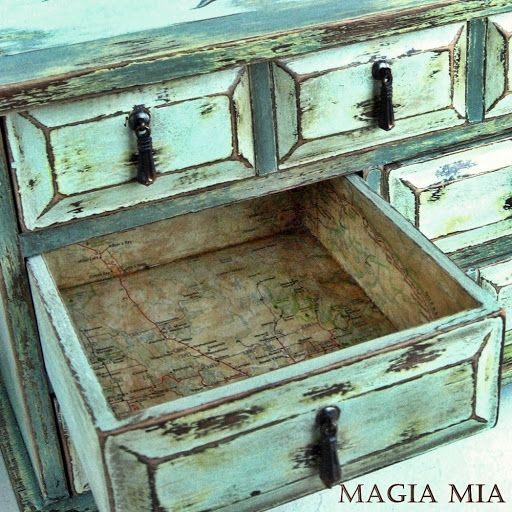 Jewelry Box DIY remodel with map interior..my next project :)