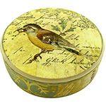 Caixa de Resina Decorada com Pássaros Bege - Kdikasa