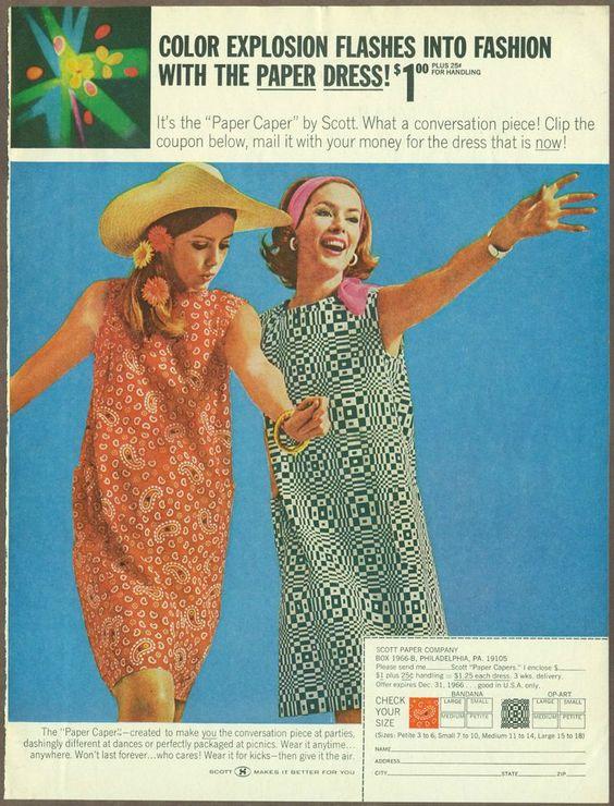 The original Scott Paper Company paper dress offer.: