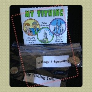 CTR-A lesson 33 Tithing, Sunday Savers, LDS Lesson Activity, My Tithing Envelope, gospelgrabbag.com