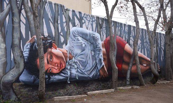 Compelling #streetart #mural #art by Gamma