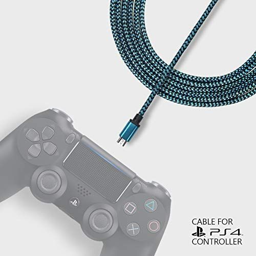 Exinoz 6 6ft Braided Charger Cable For Ps4 Dualshock And Xbox One Controller Ideal Length Xbox And Ps4 Controller Dualshock Xbox One Controller Ps4 Controller