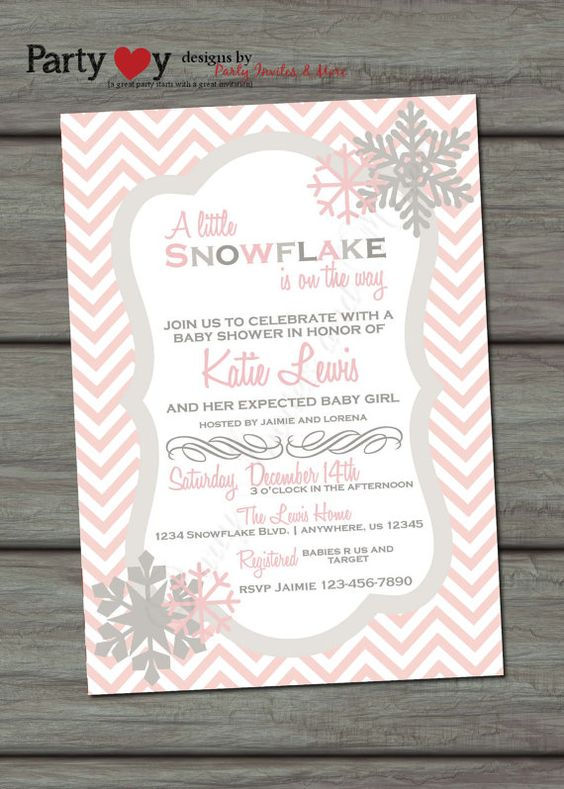 baby shower invitation winter baby shower invitation chevron baby