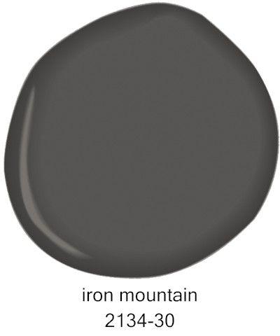 Iron Mountain Benjamin Moore paint color. #benjaminmooreironmountain #ironmountain #benjaminmooregray #bestdarkgray