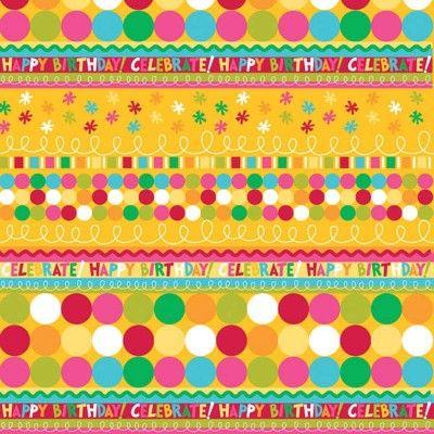 Birthday Celebration Printed Tissue - Shop