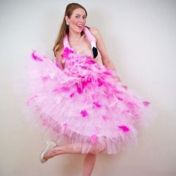 This flamingo costume was inspired by Bjork&39s swan dress and ...