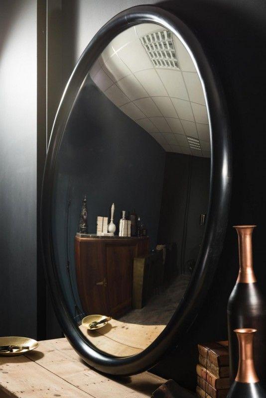 Immense Miroir Convexe De 145 Cm De Diametre D Une Grande Elegance Miroir Convexe Miroir Grand Miroir Rond
