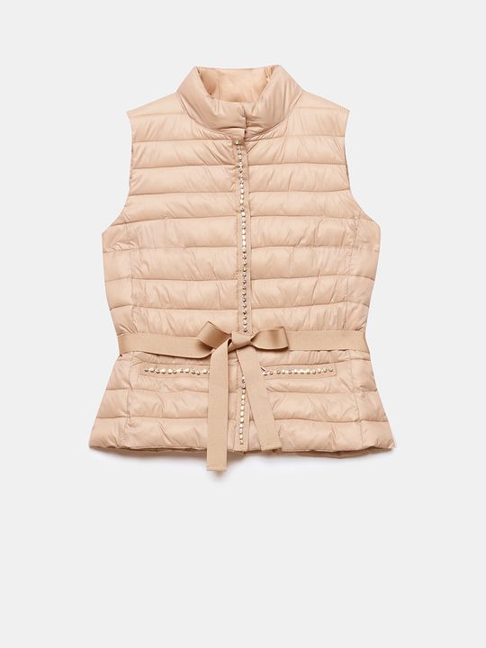 competitive price 95d16 9afa5 Motivi: Piumino smanicato dettaglio gioiello Rosa_1 | Abiti ...