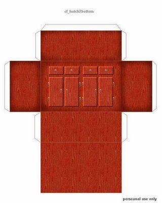 Des meubles miniatures imprimer maison de poup e pinterest miniature et tutoriels - Patron de maison en papier a imprimer ...