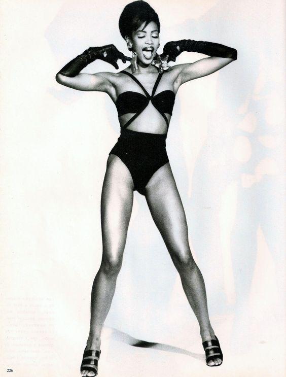 """Minnie"", Vogue Italia, April 1990Photographer: Ellen von UnwerthModel: Naomi Campbell"