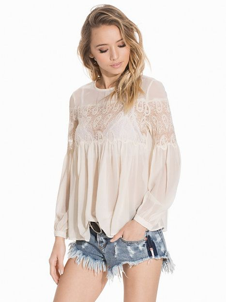 Marseilles Lace Top - French Connection - Beige - Blouses & Shirts - Clothing - Women - Nelly.com Uk