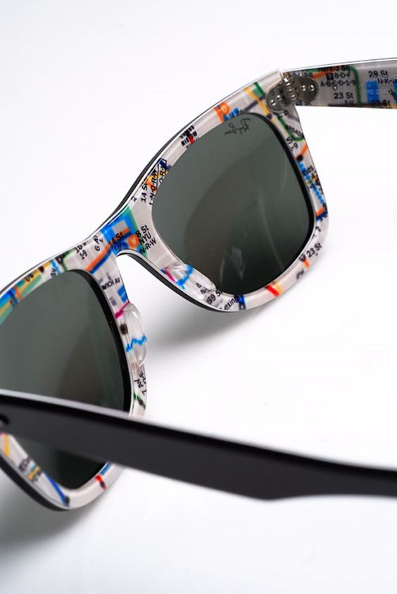ray ban sunglasses sale new york  wayfarer 'nyc subway' rare prints series ray ban #sunglasses #maps