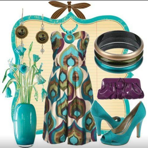 Teal & Eggplant-I don't think there is any color invented that teal can't go with.