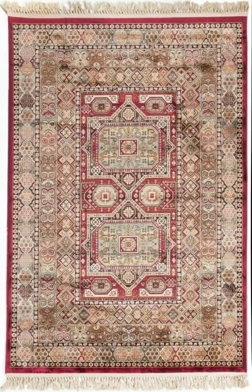 Beguiled Traditional Viscose Rug Red Viscose Rug Floor Rugs Rugs Viscose rugs made in belgium