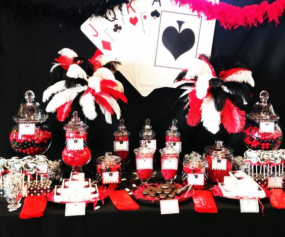 Casino themed candy table