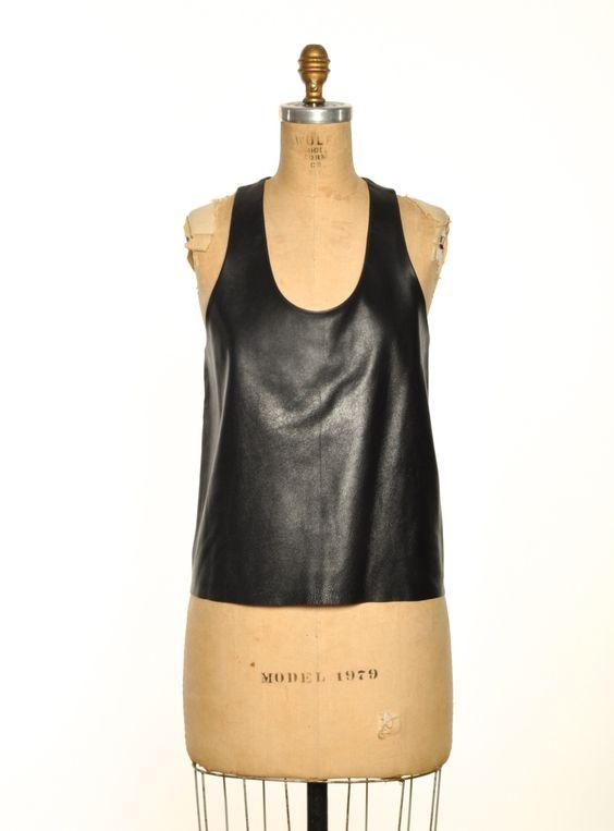 Leather Top: Leather Fashion, Fashion Ideas, Diy Inspiration, Fashion Diy, Leather Tops, Fashion Accessories, Leather Style, Boi Leather