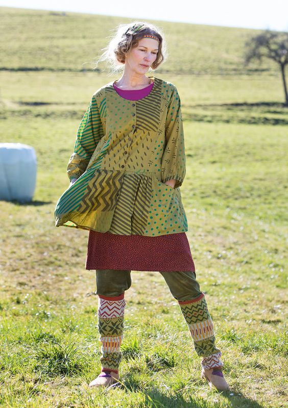 """""""Field"""" blouse in eco-cotton – New arrivals – GUDRUN SJÖDÉN – Webshop, mail order and boutiques   Colorful clothes and home textiles in natural materials."""