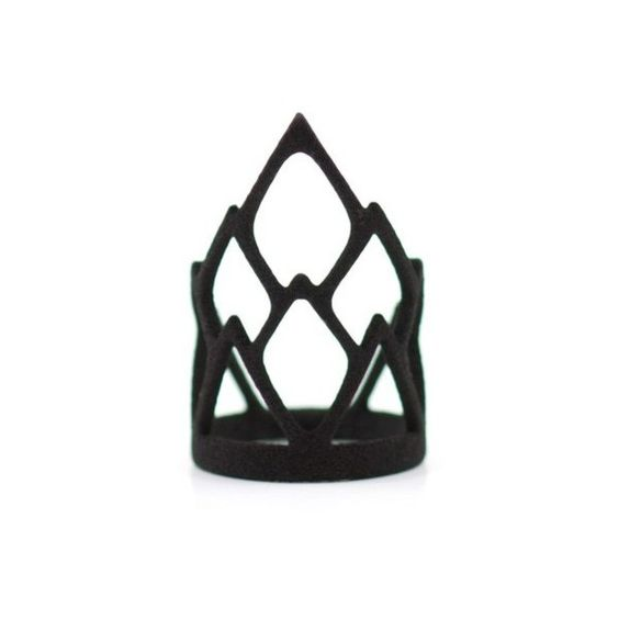 The Rule ring in Black (30 BAM) ❤ liked on Polyvore featuring jewelry, rings, diamond shaped ring, plastic jewelry, plastic crowns, crown jewelry and crown ring