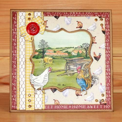 Latest release Introducing CS152D 'On the Farm' designed by the very talented Sharon Bennett. For Hobby Art Stamps.Card by Elaine Parker: