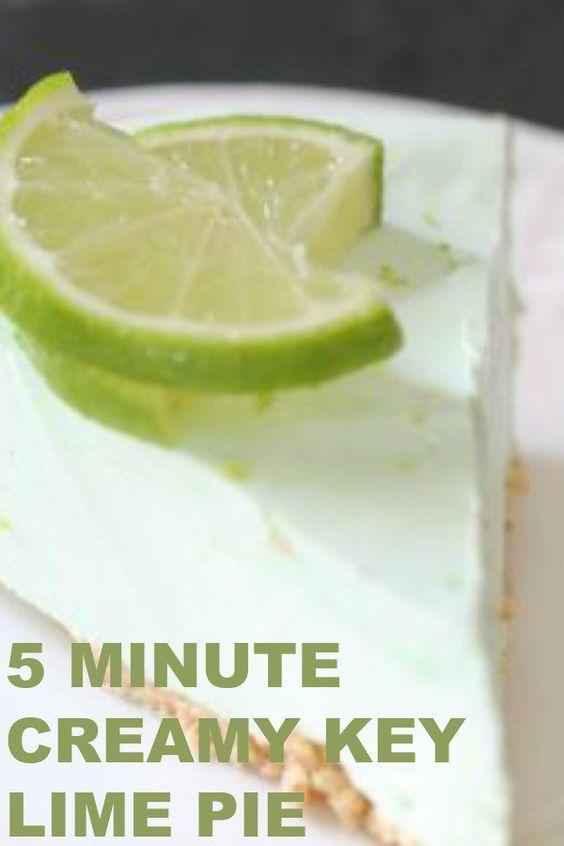 5 Minute Creamy Key Lime Pie